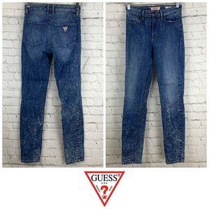 Vintage Guess 1981 Skinnny Acid Wash Jeans 👖